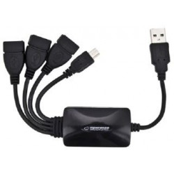 Hub USB Esperanza EA114 3xUSB 2.0 czarny