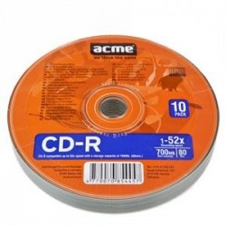 CD-R Acme 80/700MB 52X Szpindel 10pack