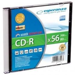 CD-R Esperanza 56x 700MB (Slim 1) Silver