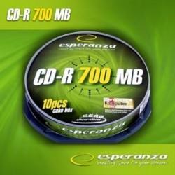 CD-R Esperanza 56x 700MB (Cake 10) Silver