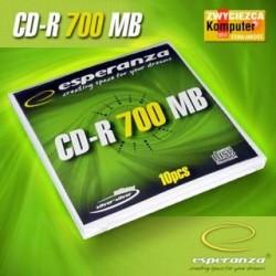 CD-R Esperanza 56x 700MB (Koperta 10) Silver