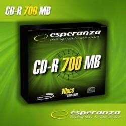 CD-R Esperanza 56x 700MB (Slim 10) Silver