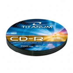 CD-R Titanum 56x 700MB (Soft Pack 10) Silver