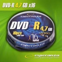 DVD-R Esperanza 16x 4,7GB (Cake 10)