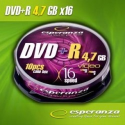 DVD+R Esperanza 16x 4,7GB (Cake 10)