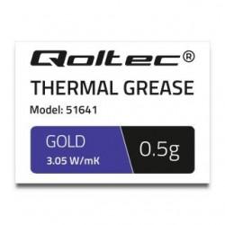 Pasta termoprzewodząca Qoltec 3.05 W/m-K | 0.5g | złota