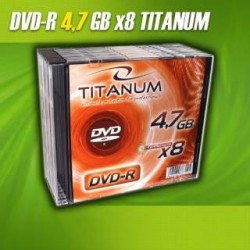DVD-R Titanum 8x 4,7GB (Slim 1sztuka)