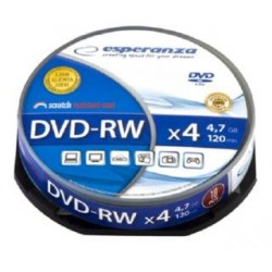 DVD-RW Esperanza 4x 4,7GB (Cake 10)