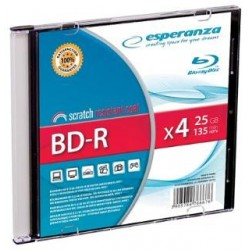 BD-R Esperanza 25GB x4 (Slim 1) BluRay