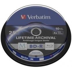 BD-R Verbatim M-Disc 25 GB 4x Print Cake 10