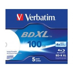 BD-R Verbatim XL 100GB X4 Wide inkjet printable (5 Jewel Case)