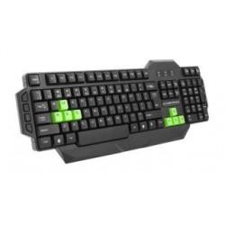 "Klawiatura przewodowa USB Esperanza ""Seaker"" Gaming czarno-zielona"