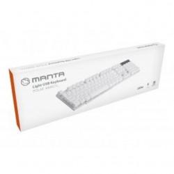 Klawiatura przewodowa Manta MM921N biała