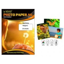 Papier fotograficzny Savio PA-04 A6 180g/m2 50 szt. błysk