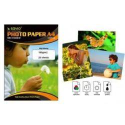 Papier fotograficzny Savio PA-07 A4 180g/m2 20 szt. błysk
