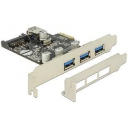 Kontroler USB 3.0 Delock PCIe 3x USB 3.0+ 1x Internal USB