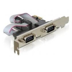 Kontroler COM Delock PCIe 2x RS-232/COM 9-pin
