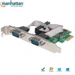 Kontroler COM Manhattan X-PCI-2SER2 PCIe 2x RS-232/COM ICC