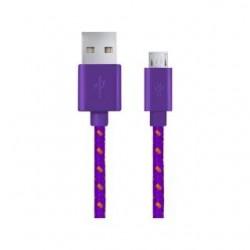 Kabel USB Esperanza Micro USB 2.0 A-B M/M OPLOT 1,0m fioletowy