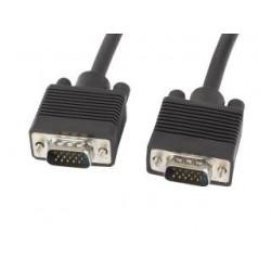 Kabel VGA Lanberg M/M 5m Ekran Ferryt czarny