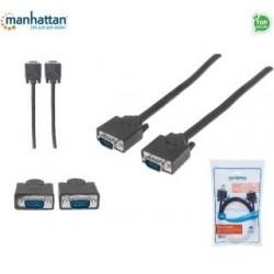 Kabel VGA Manhattan SVGA-B-2 15 M/15 M, 1,8m, czarny ICOC