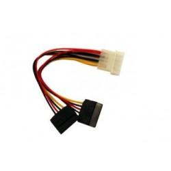 Kabel Gembird CC-SATA-PSY SATA zasilający Molex(M)- SATA(F) X2 0,15m