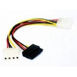 Kabel SATA zasilający Gembird CC-SATA-PSY2 Molex(M)-SATA(F)+Molex(FL) 0,15m