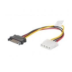 Kabel adapter Lanberg SATA zasilający(M) - Molex(F) 0,15m