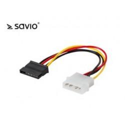 Kabel zasilający Savio AK-10 Molex - SATA 0,18m