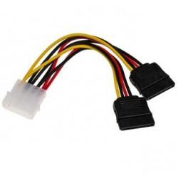Kabel adapter Akyga AK-CA-16 Molex (M) - 2x SATA (F) 0,15m