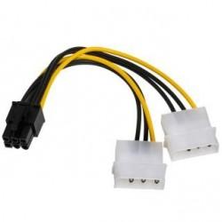 Kabel adapter Akyga AK-CA-13 2x Molex (M) - PCI-Express 6pin (M) 0,15m