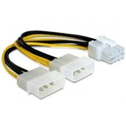 Kabel rozdzielacz zasilania Gembird CC-PSU-81 2XHDD/8 pin BTX