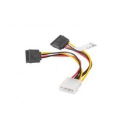 Kabel zasilający Lanberg Molex(M) - 2x SATA(F) 0,15m