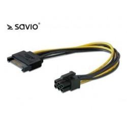 Kabel zasilający Savio AK-20 SATA 15 pin M - PCI Express 6 pin M