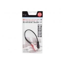 Kabel Natec Extreme Media MINIJACK-2XRCA (CHINCH) M/F 0,2m stereo (blister)