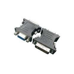 Adapter Gembird DVI-I(M)(24+5)- VGA(15F) czarny