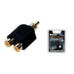 Adapter audio (CINCH) VAKOSS TC-A112K RCA M - 2x RCA F czarny