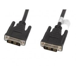 Kabel DVI Lanberg DVI-D (18+1) M/M 1,8m czarny
