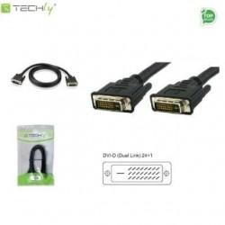 Kabel DVI Techly DVI-8100 DVI-D/DVI-D M/M 24+1 Dual Link, 1,8m ICOC