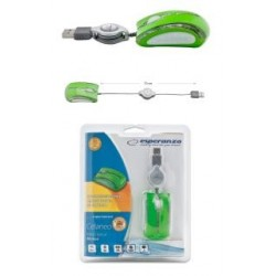 Mysz przewodowa Esperanza CELANEO MINI EM109G optyczna zielona