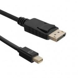 Kabel Qoltec Mini DisplayPort v1.1 męski / DisplayPort v1.1 męski | 1080p | 1,8m