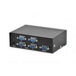 Przełącznik/Switch VGA Digitus 4-portowy, 250MHz 1920x1080p FHD