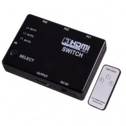 Przełącznik HDMI Esperanza EB267 z pilotem czarny