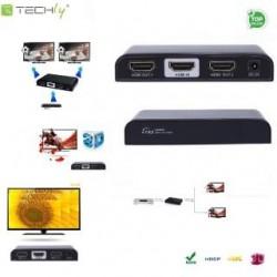 Rozdzielacz / Splitter Techly IDATA HDMI-4K2 HDMI 1/2 Ultra HD, 3D, czarny
