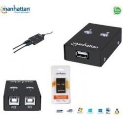 Przełącznik Manhattan IUSB-SW-2005 USB 2.0 2/1, czarny