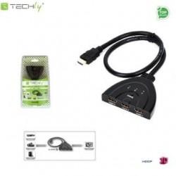 Przełącznik Techly IDATA HDMI-31D HDMI 3/1, FullHD 3D, czarny