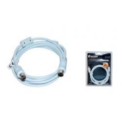 Kabel koncentryczny TV (antenowy) VAKOSS M/F, ferryt, 2m TC-A744W biały