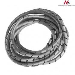 Osłona maskująca na kable Maclean MCTV-684S (5*6mm) 3m srebna spirala