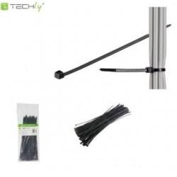 Opaski nylonowe Techly ISWT-10025-BK zaciskowe 100x2,5mm, 100 szt., czarne