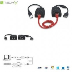 Extender USB Techly IUSB-EXTEND100 po RJ45 Cat.5/5e/6 100m
